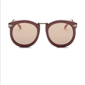 Karen Walker Super Lunar Sunglasses Burgundy NWOT